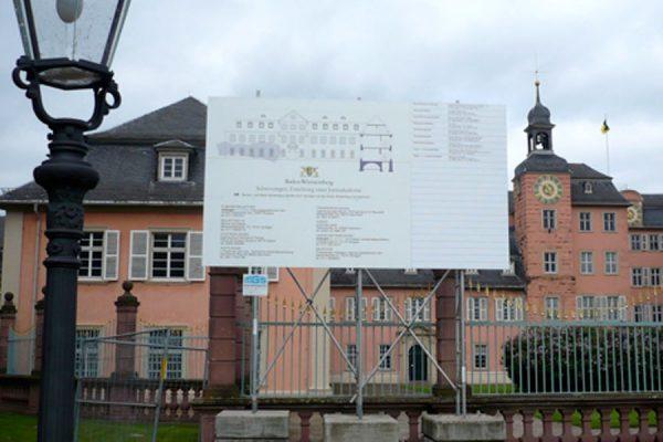 Baubeginn Schloss Schwetzingen