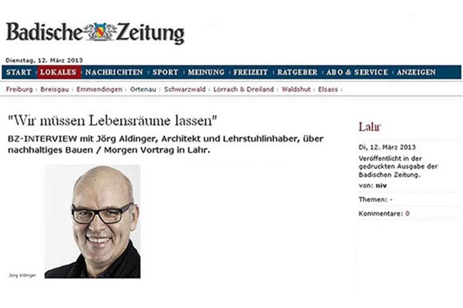 ARtikel Badische Zeitung