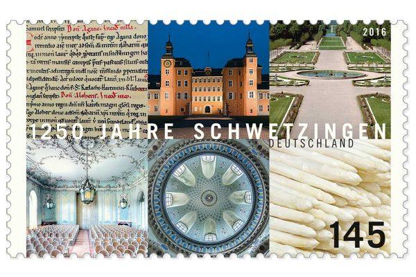 Briefmarke – 1250 Jahre Schwetzingen