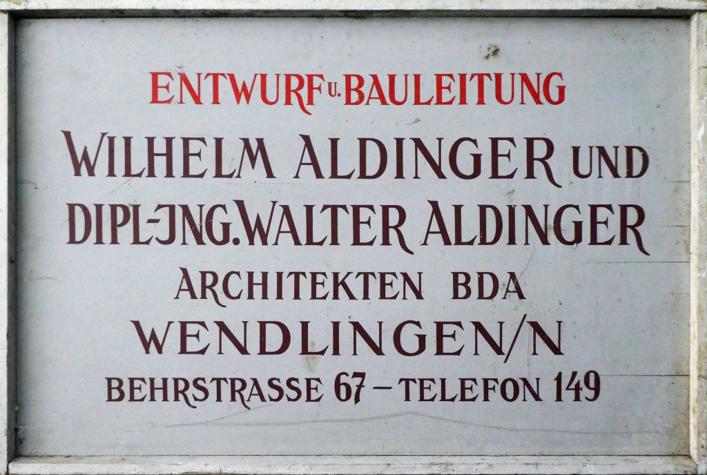 Walter Aldinger Bauschild